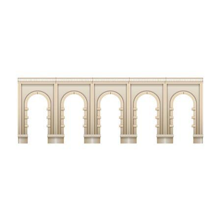 Bridge vector icon.Realistic vector icon isolated on white background bridge. Çizim