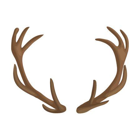 Elk horn vector icon.Cartoon vector icon isolated on white background elk horn. Ilustração