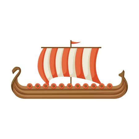 Ship viking vector icon.Cartoon vector icon isolated on white background ship viking.