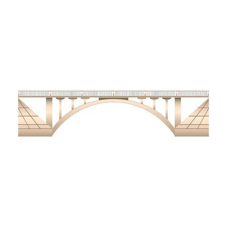 Bridge vector icon.Realistic vector icon isolated on white background bridge. 일러스트
