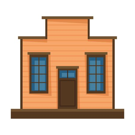 Wild west building vector icon.Cartoon vector icon isolated on white background wild west building.