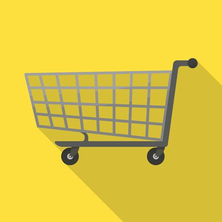 Vector design of trolley and basket. Web element of trolley and store stock symbol for web.