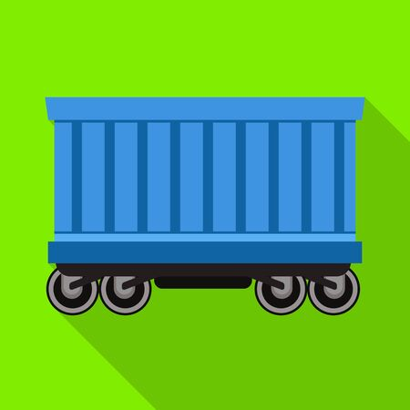 Vector design of wagon and container. Web element of wagon and boxcar vector icon for stock.