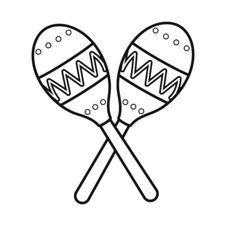 Vector design of maraca and instrument icon. Graphic of maraca and maracas stock symbol for web.