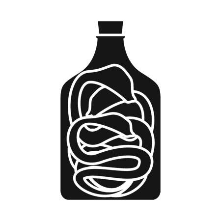 Vector design of wine and snake. Set of wine and preserved vector icon for stock.