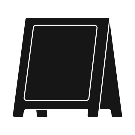 Isolated object of menu and chalkboard icon. Collection of menu and vintage stock vector illustration.