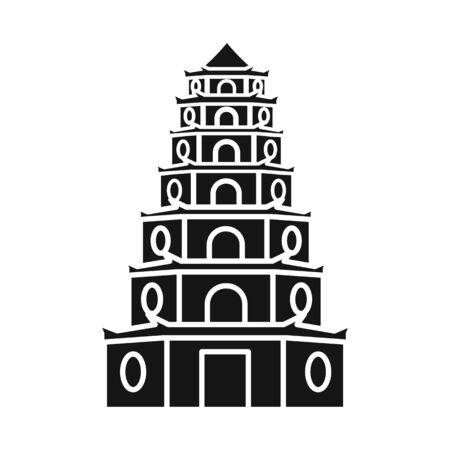 Vector design of tower and vietnam symbol. Collection of tower and city stock vector illustration.