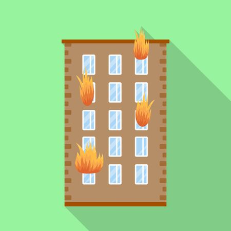 Isolated object of house and flame symbol. Set of house and multistorey stock symbol for web. 일러스트
