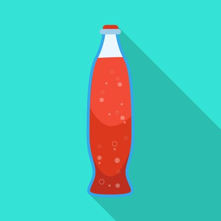 Isolated object of bottle and soda symbol. Set of bottle and red vector icon for stock.