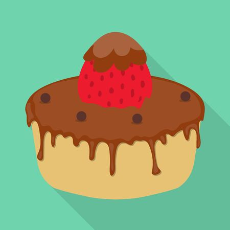 Isolated object of cake and birthday symbol. Collection of cake and chocolate stock vector illustration. 일러스트
