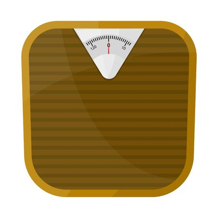 Isolated object of scales and diet. Graphic of scales and balance vector icon for stock. Vettoriali