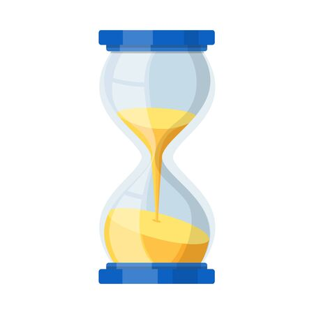 Vector illustration of timepieces and sandglass symbol. Web element of timepieces and minute stock symbol for web. 일러스트