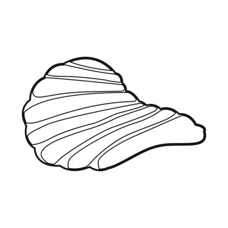Vector illustration of chip and fluted. Web element of chip and crunchy stock vector illustration. 일러스트