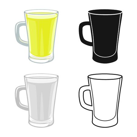 Vector design of cup and juice icon. Web element of cup and sugar stock symbol for web. 일러스트