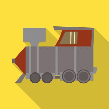 Vector illustration of train and old icon. Web element of train and steam vector icon for stock. 일러스트