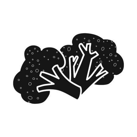 Vector illustration of broccoli and cabbage. Set of broccoli and doodle stock vector illustration. 일러스트