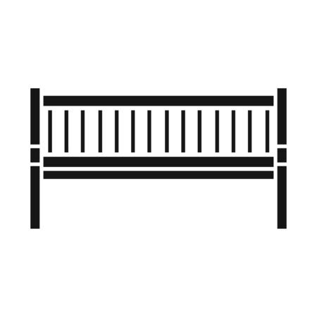 Isolated object of bench and furniture symbol. Graphic of bench and seat stock vector illustration. 일러스트