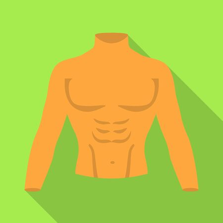 Isolated object of dummy and torso sign. Web element of dummy and male stock symbol for web.