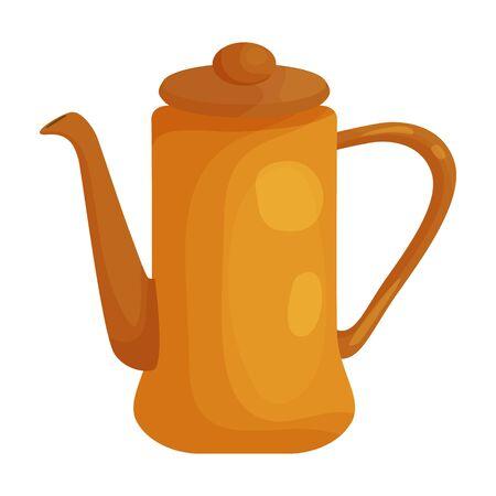 Teapot vector icon.Cartoon vector icon isolated on white background teapot.
