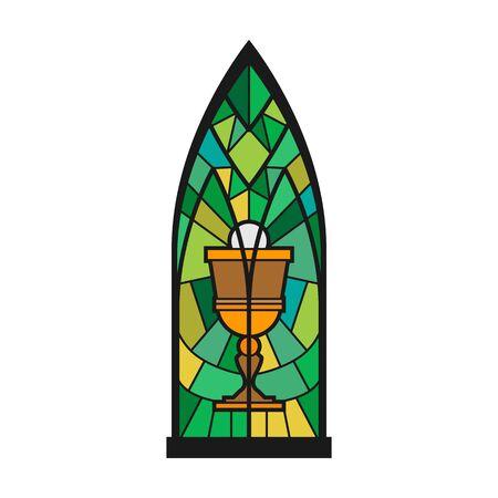 Church window vector icon.Cartoon vector icon isolated on white background church window.
