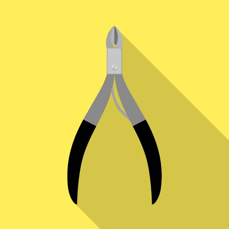 Isolated object of forceps and spa  . Web element of forceps and metal vector icon for stock. Ilustração