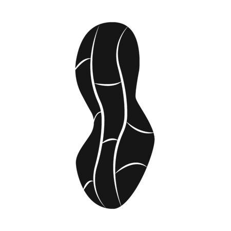 Vector illustration of peanut and shell symbol. Collection of peanut and pod stock symbol for web.