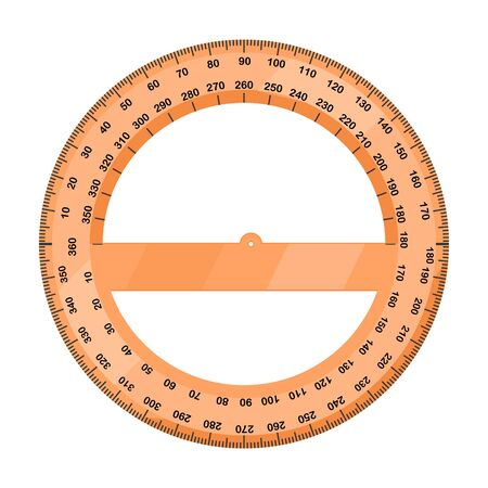 Protractor vector icon.Cartoon vector icon isolated on white background protractor.