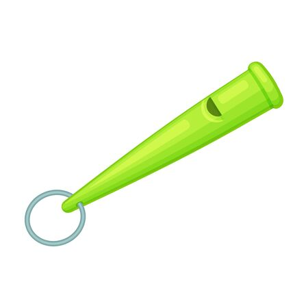 Whistle vector icon.Cartoon vector logo isolated on white background whistle.