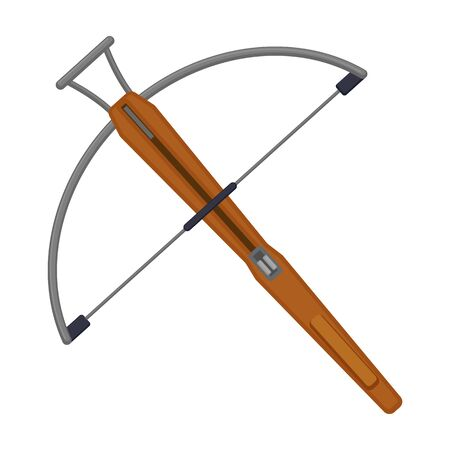 Crossbow vector icon.Cartoon vector icon isolated on white background crossbow.