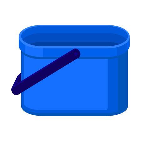 Bucket vector icon.Cartoon vector icon isolated on white background bucket.