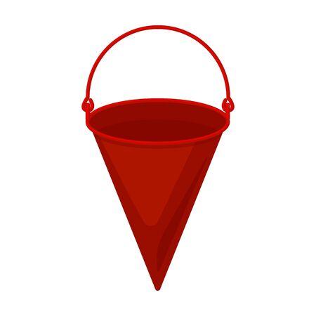Bucket vector icon.Cartoon vector logo isolated on white background bucket.