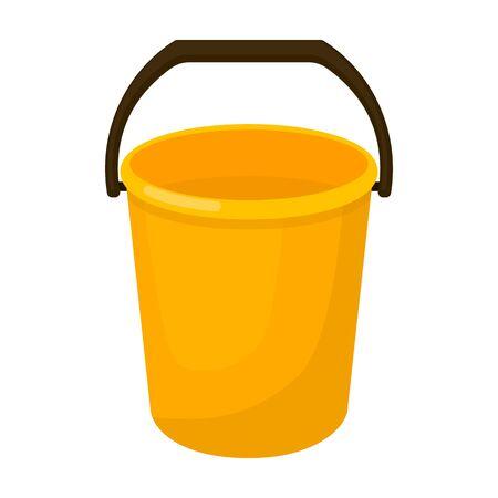 Bucket vector icon.Cartoon vector logo isolated on white background bucket. Logo