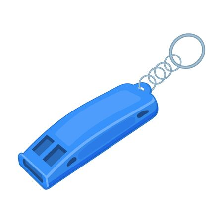 Whistle vector icon.Cartoon vector icon isolated on white background whistle. Vettoriali