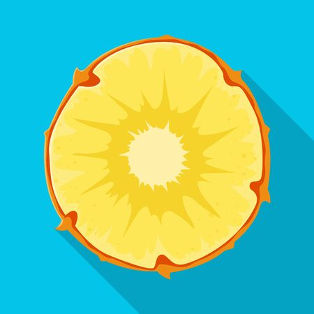 Isolated object of slice and ananas sign. Graphic of slice and vitamin stock symbol for web.
