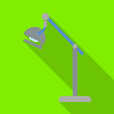 Vector design of lamp and surgical icon. Web element of lamp and light stock symbol for web.