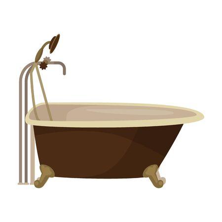 Bath tub vector icon.Cartoon vector icon isolated on white background bath tub. Ilustração