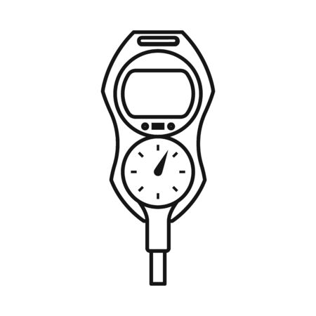 Isolated object of pressure and regulator sign. Graphic of pressure and detector stock vector illustration.