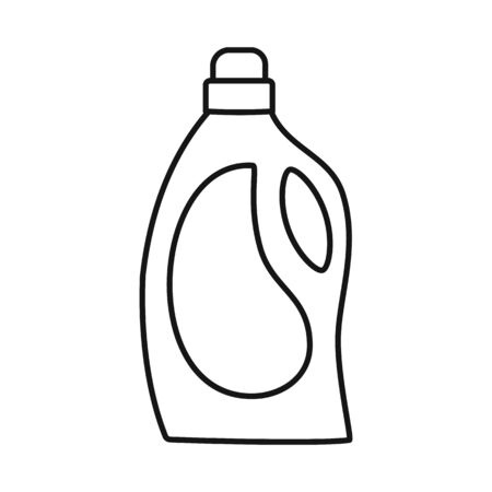 Vector illustration of plastic and bottle symbol. Graphic of plastic and liquid stock symbol for web. Imagens - 147827202