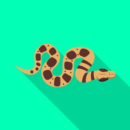 Vector illustration of serpent and viper sign. Graphic of serpent and crawling vector icon for stock.