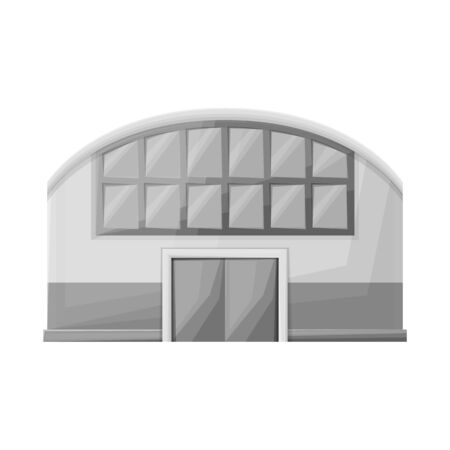 Isolated object of shop and awning icon. Graphic of shop and hangar vector icon for stock. Vettoriali
