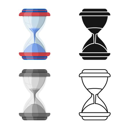 Isolated object of sandglass and flow symbol. Graphic of sandglass and transparent vector icon for stock.