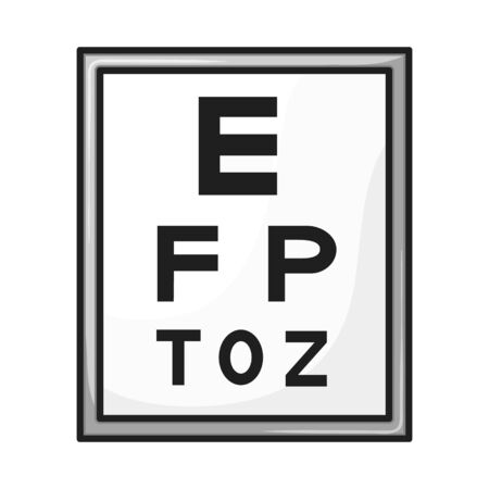 Isolated object of text and optical icon. Web element of text and eyesight vector icon for stock.