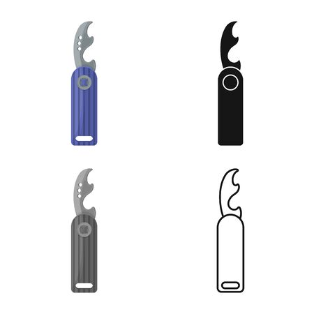 Isolated object of bottle and opener icon. Graphic of bottle and wine stock vector illustration.