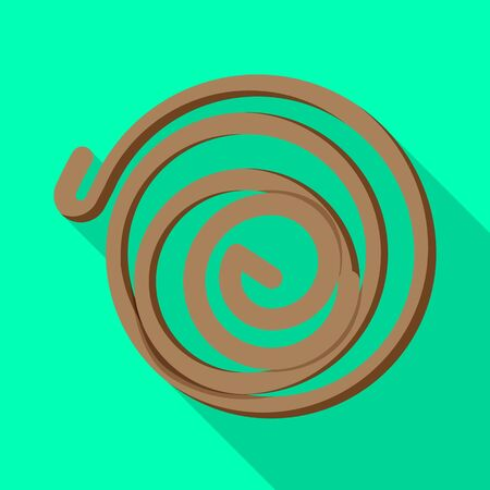 design of coil and detail logo. Graphic of coil and metal stock symbol for web.