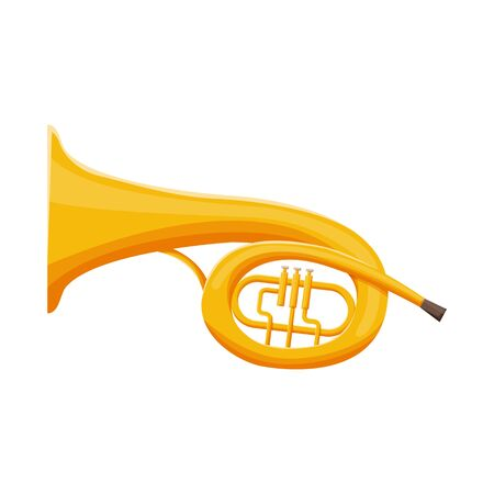 Vector illustration of bugle and trumpet symbol. Web element of bugle and wind stock symbol for web.