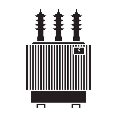 Transformer vector icon.Black vector icon isolated on white background transformer.