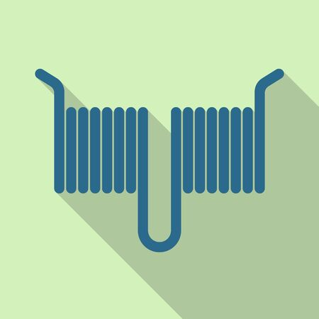 Isolated object of coil and detail. Web element of coil and metal vector icon for stock.