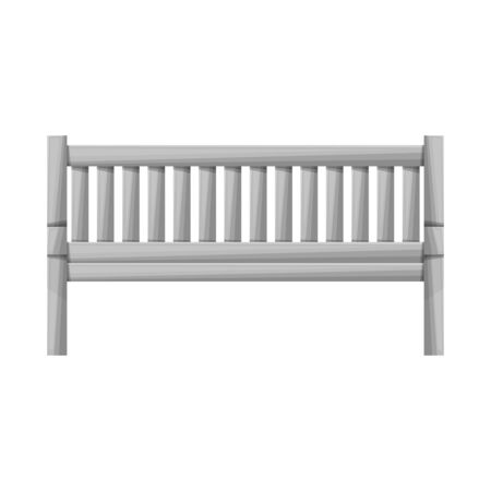 Vector illustration of bench and furniture logo. Web element of bench and seat stock symbol for web.