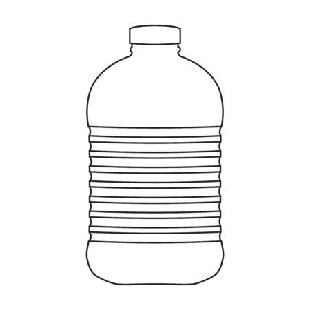 Bottle sunflower oil vector icon.Line vector icon isolated on white background bottle sunflower oil.