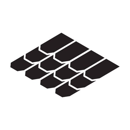 Roof material vector icon.Black vector icon isolated on white background roof material. Vektorgrafik